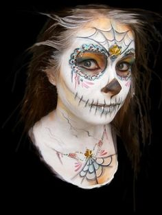 dia de los muertos day of the dead face painting - Halloween Day Of The Dead Face Paint