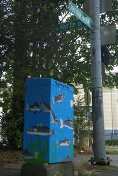 Salmon Fry.  Completed mural at SW Myrtle St.