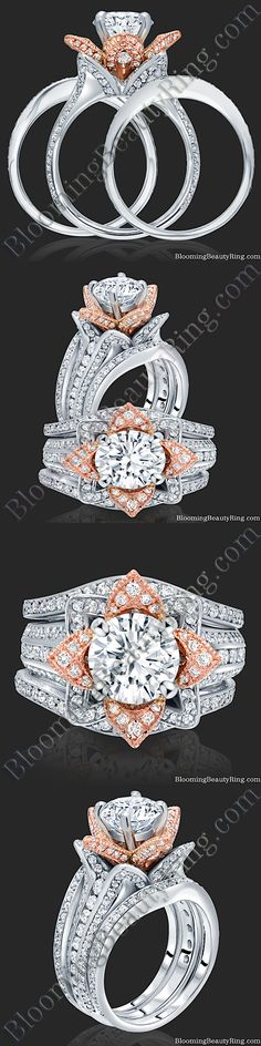 Unique Engagement Rings for Women by Blooming Beauty Jewelry Unusual Engagement Rings, Engagement Ring Styles, Diamond Engagement Rings, Jewelry Trends 2018, Latest Jewellery Trends, Earring Trends, Right Hand Rings, Anniversary Rings, Fashion Rings