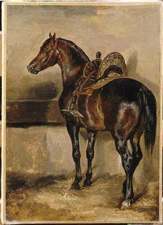 Turkish horsein astable - Theodore Gericault