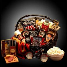 Gift baskets and supplies 16091 simply sugar free gift basket hes a motorcycle man gift basket negle Image collections