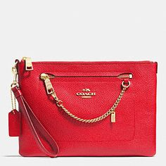 PRAIRIE WRISTLET IN PEBBLE LEATHER by Coach