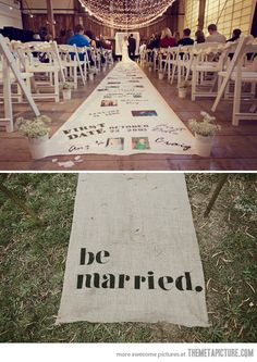 Cute wedding idea, random - I know, since I've been married for 15 years... oh well..just cute...