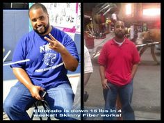 This just in from Eldorado, a Skinny Fiber Customer:     He say he has also lost 4 inches off of his waist, 3 inches off of his chest, 2 off his arms and 1 inch off of his neck. WTG Eldorado! Skinny Fiber works!! :)