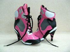 san francisco 34b81 a656d Women s Nike Air Jordan Sport Heels in pink, black and silver. Hohe SchuheJordan  5Michael JordanHohe NikesHigh ...