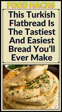 Vegetarian Recipes, Cooking Recipes, Healthy Recipes, Turkish Flat Bread, Tandoori Masala, Easy Bread, Flat Bread Recipe Easy, Good Food, Yummy Food