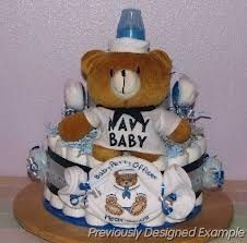 Us navy diaper cake