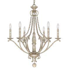 Adele Silvertone Quartz 6-light Chandleier - Overstock™ Shopping - Great Deals on Capital Lighting Chandeliers & Pendants