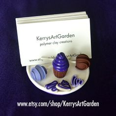 Sweet Treats Polymer Clay Business Card Holder $30  www.etsy.com/shop/KerrysArtGarden
