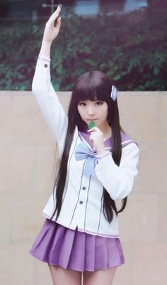 #schooluniform and #backtoschool | I think that this is a cosplay from sankarea