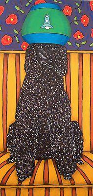 black poodle salon dog art print poster picture13x19