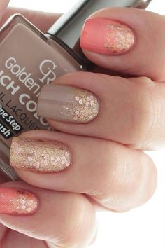Nuetral shimmering nail color