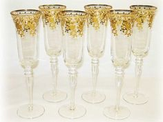 $29.95-$62.93 Three Star champagne Glasses - add a touch of elegance to your drinking experience. Serve and drink in style with in a set of handcrafted fine Three Star glass. Champagne Glasses feature key pattern frosted with 14 karat gold. Glassware is perfect for serving champagne, sparkling wine, water or other drinks to accompany fine dining or social gatherings in your kitchen or bar. The P ...