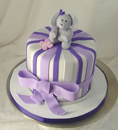 cute baby shower cakes for girls, could change the color to a baby blue which would be so cute