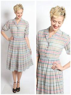 1950s Dress // Light as Air Dress // vintage by dethrosevintage, $114.00