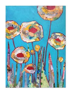 Art Room Britt: Shelli Walters-inspired Mixed-Media Collaged Flowers Source by Paper Collage Art, Flower Collage, Collage Art Mixed Media, Mixed Media Painting, Flower Art, Paper Art, Collage Collage, Painting Collage, Painting Abstract