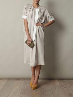 Balenciaga  Washed-silk gathered dress