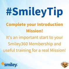 Have you earned the badge on your Introduction Mission yet? #SmileyTip http://h5.sml360.com/-/1kaxc