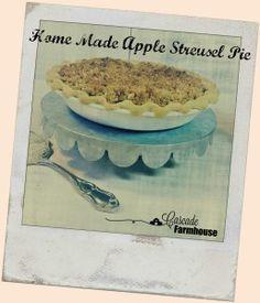 Home Made Apple Streusel Pie Apple Streusel, Homemaking, Pie, Farmhouse, Homemade, Tableware, Sweet, Food, Torte