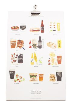 A calendar with beer and food pairings for each month?!? Yes, please.
