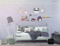 Deco stickers at Sashas93 via Sims 4 Updates  Check more at http://sims4updates.net/objects/decor/deco-stickers-at-sashas93/