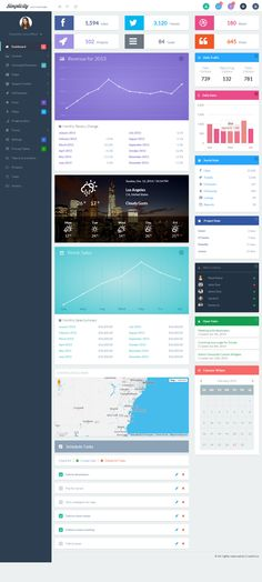 Simplicity is Premium Fully Responsive Admin Pack with Modern Flat Design. It is built using Bootstrap 3 Framework.