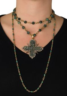 A stunning collection of Sylva & Cie Necklaces and a Diamond Russian Icon Enhancer. Layer it or wear them individually! At Oster Jewelers