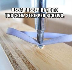 quick tip on how to remove stripped screws