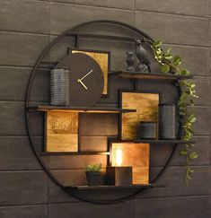18 wall shelves ideas for your room 00011 Welded Furniture, Home Decor Furniture, Home Decor Shelves, Wall Shelves, Living Room Designs, Living Room Decor, Wall Design, House Design, Home Interior Design