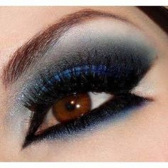 black and blue smoky eye