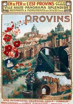 chemins de fer de l'est - Provins - 1910 - illustration de Louise Pigassou-Dolques -