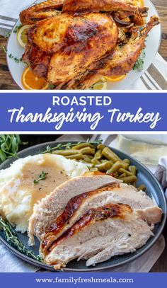 Roasted Thanksgiving Turkey - Food RecipesRoasted Thanksgiving Turkey Recipe from Family Fresh Meals Vegetarian Thanksgiving, Thanksgiving Turkey, Thanksgiving Recipes, Holiday Recipes, Best Grill Recipes, Best Dinner Recipes, Cooking Recipes, Potluck Recipes, Meal Recipes