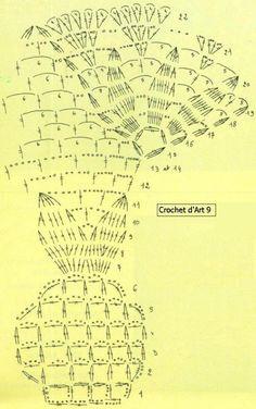 Gallery.ru / Zdjęcie nr 149 - 2 - nezabud-ka Crochet Doily Diagram, Crochet Chart, Filet Crochet, Knit Crochet, Lace Doilies, Crochet Doilies, Doily Patterns, Crochet Tablecloth, Recipes