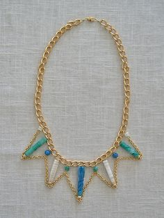 Balboa Jewelry new Spring collection now up!! Triangle Stone Necklace