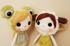 super cute kawaii plushie dolls Molly the frogy