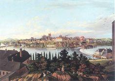 Vincenc Morstadt: Kolín ze zálabské strany (v popředí Skála), 1815