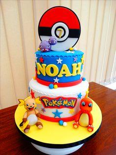Pokémon (Charmander, Raichu, Weezing) Cake xMCx