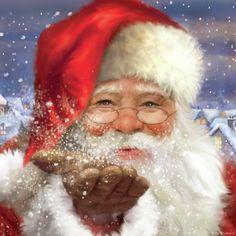 Leading Illustration & Publishing Agency based in London, New York & Marbella. Christmas Scenes, Father Christmas, Vintage Christmas Cards, Santa Christmas, Christmas Pictures, Christmas Crafts, Christmas Mantles, Xmas, Silver Christmas