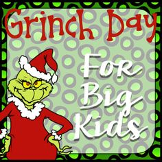 Grinch Day activities for upper elementary! Grinch Party, Le Grinch, Grinch Christmas Party, Holiday Fun, Grinch Stuff, Holiday Parties, Christmas Writing, Christmas Math, Christmas Projects