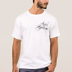 Monogram Father of The Groom Wedding T--Shirt T-Shirt