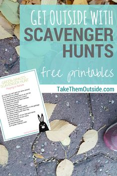 Get outside with scavenger hunts | free printable | outdoor family activity ideas for the summer and fall | #scavengerhunt #printable #getoutside #takethemoutside #activityideas