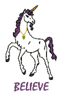 Crochet Pattern Chart Unicorn Graph