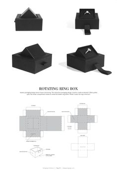 Rotating Ring Box – structural packaging design dielines
