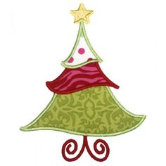 By Category :: Holidays & Special Occasions :: Christmas :: Jolly Christmas Tree Applique - Embroidery Boutique