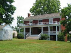 McLean house, Appomattox, Virginia where the formal surrender of the Army of Northern Virginia took place.  Mr. Wilmer McLean left northern Virginia for Appomattox to escape the war, yet the war ended in his parlor.