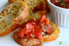 Italian Tomato and Basil Brushetta