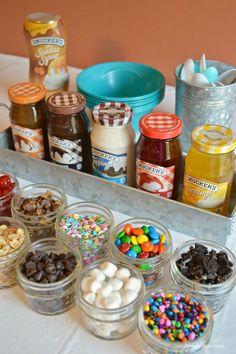 Creating an Ice Cream Sundae Bar