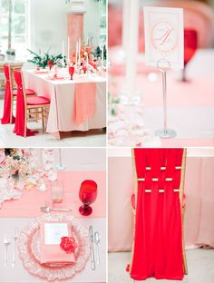 A coral + poppy red palette styled two ways / Jordan Brittley Photography / Green Wedding Shoes