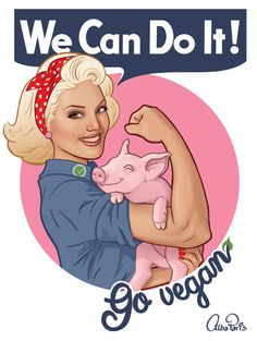We Can Do It! Go Vegan! by AlbaParis.deviantart.com on @DeviantArt