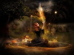 Samhain: Wicca and Witchcraft for Beginners Ritual De Samhain, Fantasy Witch, Fantasy Art, Fantasy Life, Dark Fantasy, Witch Wallpaper, Halloween Wallpaper, 3d Wallpaper, Samhain Halloween